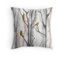 orange trees  Throw Pillow