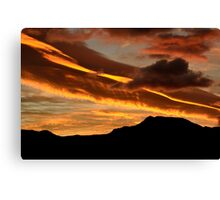 Ribbon cloud Canvas Print
