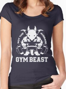 Not the average GYM BEAST Women's Fitted Scoop T-Shirt