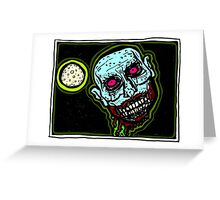 Zombie Snack Attack COLORIZED Greeting Card