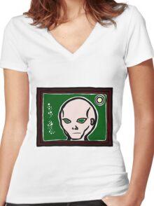 Eben Mugshot COLORIZED Women's Fitted V-Neck T-Shirt