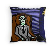 Corpse in a Chair COLORIZED Throw Pillow