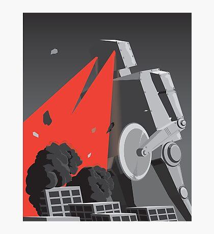 City destruction by massive robot (colour) Photographic Print