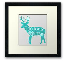 The Teal Deer Framed Print