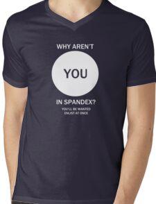 WHY AREN'T YOU IN SPANDEX? WWI Superhero Propaganda Mens V-Neck T-Shirt