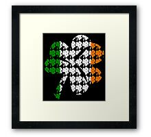 Shamrock Irish Flag Framed Print