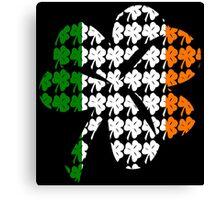 Shamrock Irish Flag Canvas Print