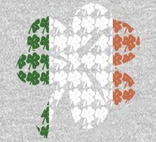 Shamrock Irish Flag One Piece - Long Sleeve