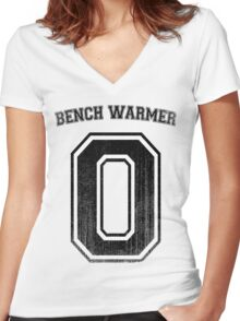 Bench Warmer Women's Fitted V-Neck T-Shirt