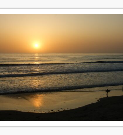 California Surfing Sunset - Pacific Beach, San Diego, California Sticker
