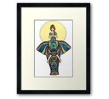 Zen Yoga Elephant Framed Print