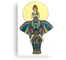 Zen Yoga Elephant Canvas Print