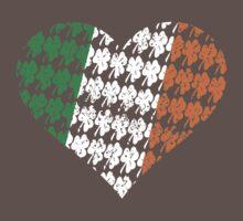 Irish Flag Heart Baby Tee