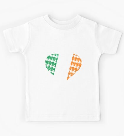 Irish Flag Heart Kids Tee