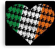 Irish Flag Heart Canvas Print