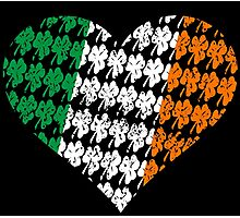 Irish Flag Heart Photographic Print