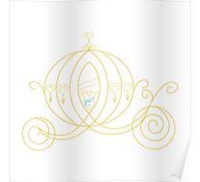 Princess Carriage - Gold Poster