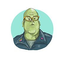 Green Man Alien General Circle Drawing Photographic Print