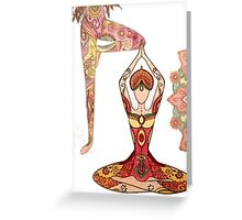 Hot yoga two  Greeting Card
