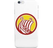 Viking Ship Circle Retro iPhone Case/Skin
