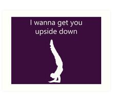 Yogi Upside Down Art Print