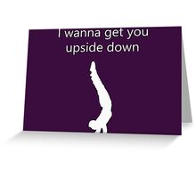 Yogi Upside Down Greeting Card