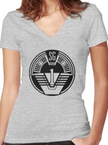Stargate SG-1 Women's Fitted V-Neck T-Shirt