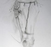 Arabian Horse Head Study by opheliasfiction