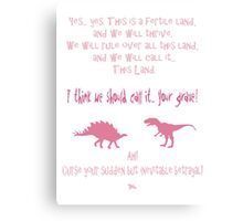 curse your sudden but inevitable betrayal, firefly, pink Canvas Print