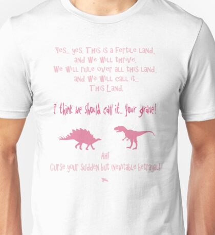 curse your sudden but inevitable betrayal, firefly, pink Unisex T-Shirt
