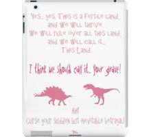 curse your sudden but inevitable betrayal, firefly, pink iPad Case/Skin