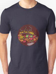Orchard Crop Harvest Circle Woodcut T-Shirt
