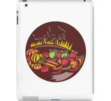 Orchard Crop Harvest Circle Woodcut iPad Case/Skin