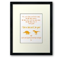 curse your sudden but inevitable betrayal, firefly, orange Framed Print