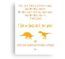 curse your sudden but inevitable betrayal, firefly, orange Canvas Print