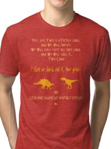 curse your sudden but inevitable betrayal, firefly, orange Tri-blend T-Shirt