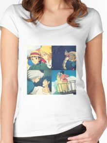 Sophie and Howl - Studio Ghibli Women's Fitted Scoop T-Shirt