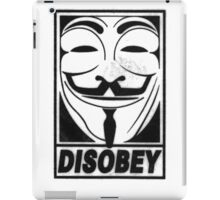Guy Fawkes/Anonymous/V for Vendetta: DISOBEY iPad Case/Skin
