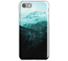 Blue Green Mountain Reflection iPhone Case/Skin