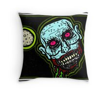 Zombie Snack Attack COLORIZED Throw Pillow