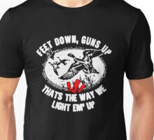 Feet Down Guns Up Hunting Duck Unisex T-Shirt