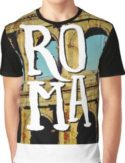 Roma Colosseum Italy Architecture Wanderlust Europe Graphic T-Shirt