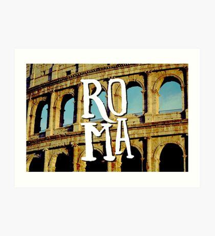 Roma Colosseum Italy Architecture Wanderlust Europe Art Print