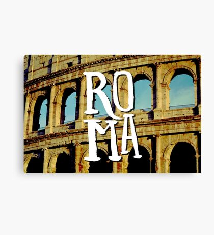 Roma Colosseum Italy Architecture Wanderlust Europe Canvas Print
