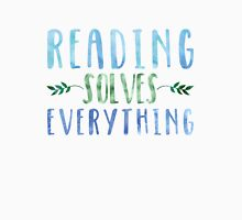 Reading Solves Everything (Blue/Green) Unisex T-Shirt