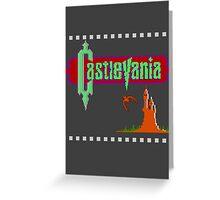 Castlevania Title Screen Greeting Card