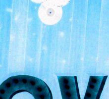 Blue Suede Love Sticker
