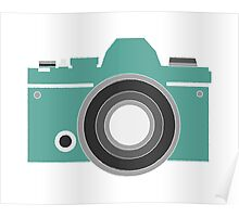 Turquoise Camera Poster