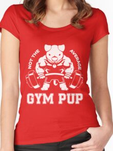Not the average GYM PUP Women's Fitted Scoop T-Shirt