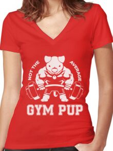 Not the average GYM PUP Women's Fitted V-Neck T-Shirt